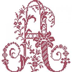 French Floral Cross Stitch Alphabet   Embroidery Stash Cross Stitch Letters, Just Cross Stitch, Cross Stitch Heart, Embroidery Alphabet, Embroidery Patterns, Machine Embroidery, Stitch Patterns, Cross Stitching, Cross Stitch Embroidery