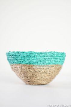 DIY: string bowls