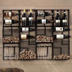 Modular Cork Catcher System – Home bar designs Canto Bar, Wine Rack Design, Wine Rack Wall, Wine Wall Decor, Wine Decor For Kitchen, Wall Mounted Wine Racks, Wine Bottle Holder Wall, Cool Wine Racks, Wine Rack Shelf