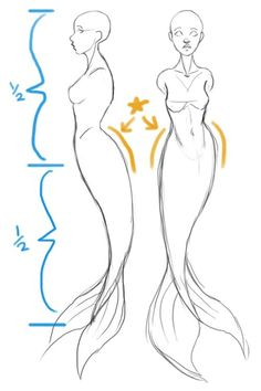 SarahCulture How to draw Mermaids for MerMay coming up next. - SarahCulture SarahCulture How to draw Mermaids for MerMay coming up next. Art Drawings Sketches Simple, Pencil Art Drawings, Easy Drawings, Fantasy Drawings, Drawing Reference Poses, Drawing Poses, Drawing Tips, Drawing Drawing, Wings Drawing