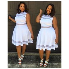 Today on the blog, I'm talking my signature summer staples --which happens to include all #WHITE numbers, especially this mesh cut-out dress from @byashleystewart  What's your signature summer look? Check out www.circa88.com for details  #plussize #blogger #plusmodelmag #celebratemysize #AshleyStewart #bodypositive #summer #white #curvygirl #plussizebeauties #GoosFullFiguredFriday