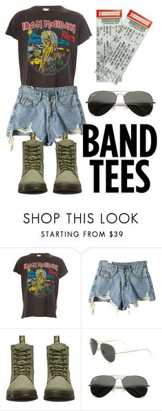 """""""Hard Rock 🤘"""" by lbird109 ❤ liked on Polyvore featuring MadeWorn, Dr. Martens and Rayban"""