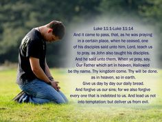 The Lord gave us words to pray with. He taught us how to speak with him and blessed uswith this wonderful prayer in doing so.