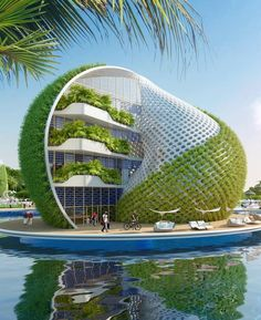 "30 Amazing Green Building Architecture Design Ideas - The latest trend in new home construction is ""green building"". Most people equate green building with efficient or renewable materials. Concept Architecture, Futuristic Architecture, Sustainable Architecture, Beautiful Architecture, Architecture Design, Building Architecture, Architecture Sketchbook, Pavilion Architecture, Victorian Architecture"