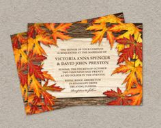 DIY Printable Fall Wedding Invitations With by iDesignStationery