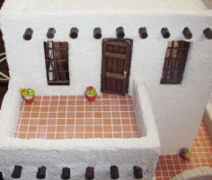 Earth & Tree Miniatures & Dollhouses specializes in Miniature Dollhouses, Doll House Supplies and more. Clay Houses, Bird Houses, Ibiza, Building A Cabin, Adobe House, Permaculture Design, Indian Dolls, Doll Display, Dream Doll