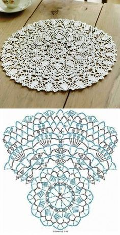 Patterns and motifs: Crocheted motif no.A rhombus crochet and other ideas for inspiration. Crochet Doily Diagram, Crochet Doily Patterns, Crochet Chart, Filet Crochet, Thread Crochet, Crochet Motif, Crochet Stitches, Tatting Patterns, Crochet Circles