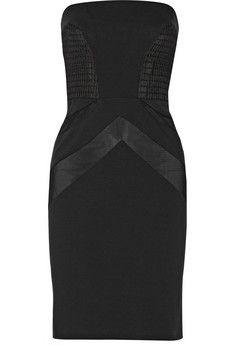 Vera Wang Net and mesh-paneled ponte dress | NET-A-PORTER