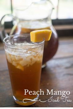Some of my best memories have been over a glass of my grandmother's iced tea. Check out my version of my childhood favorite in this peach mango iced tea recipe #ad #MeAndMyTea @bigelowtea