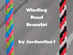 New Winding Road Bracelet - Rainbow Loom or Monster Tail - Crossing Fish...