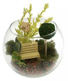 Fairly garden in a fish bowl