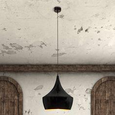 Zuo Modern Copper Ceiling Lamp - Matte Black - 98247