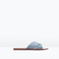 Image 1 of CROSSOVER LEATHER SANDALS from Zara