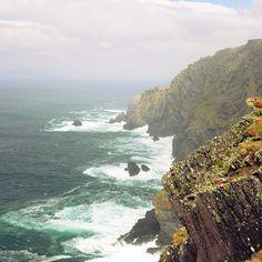 Cliffs at Valentia Island, County Kerry, Ireland.