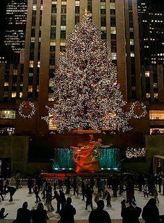 Rockafeller Center at Christmas time :)