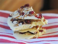 ... White Chocolate Bark, Movie Night Bark, Tropical White Chocolate Bark