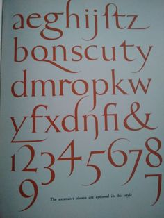 An example of an interesting font type, it could be used for another style of the poster, Lower case Roman.