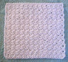 Free Crochet Patten: Super Simple Dishcloth