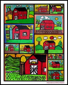 Regional Painter: Grant ~~ Barn Landscapes via RainbowsWithinReach