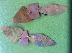 Vintage copper bohemian dangle earrings. F R E E. S H by Mamaphias, $24.00