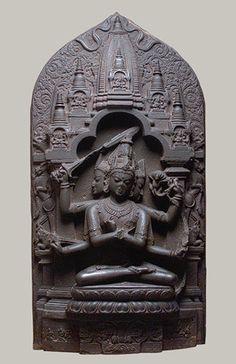 Manjuvajra Mandala, Pala period (ca. 700–1200), 11th century Bangladesh or India (West Bengal) Black stone, Metropolitan Museum of Art