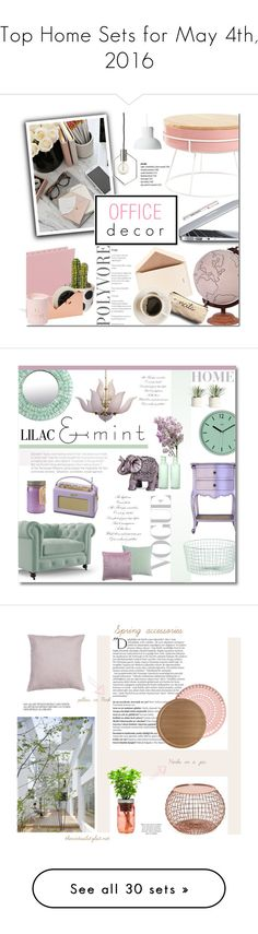 """""""Top Home Sets for May 4th, 2016"""" by polyvore ❤ liked on Polyvore featuring interior, interiors, interior design, home, home decor, interior decorating, Jamie Young, GiGi New York, Smead and Dempsey & Carroll"""