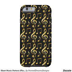 Sheet Music Pattern iPhone 6/6s, Tough Tough iPhone 6 Case