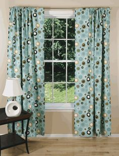 Modern curtains & drapes for every window in your home. Searching for contemporary chic or trendy and upbeat? Blue Curtains, Drapes Curtains, Mid Century Modern Curtains, Mid-century Modern, Contemporary, Custom Drapes, Beautiful Fairies, Living Room, Wall