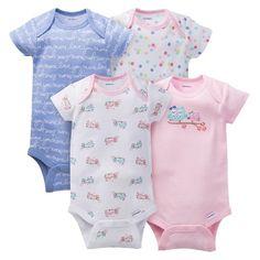 3354165e1 Gerber® Baby Girls' 4pk Owl Onesies® - Pink : Target Gerber Baby Clothes