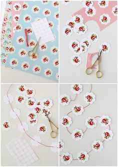 Floral paper garland by cafe noHut, via Flickr