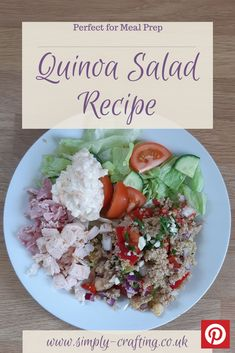 Refreshingly different, this Quinoa Salad Recipe makes a great alternative to rice based dishes like my Easy Cajun Dirty Rice Recipe.  #simplycrafting #budgetrecipes #batchcook #healthiereating #mealinspiration #midweekmeals #fiveaday #homemadefoodisthebest #mumscooking #homecooked #summersalad #quinoa #quinoarecipes #quinoasalad