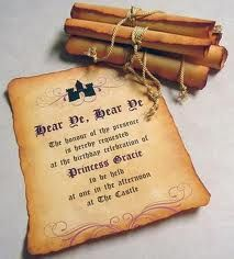 Wedding Invite Scrolls for a medieval wedding!