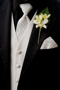 My dress is ivory and I can't stand the idea of the groom wearing an ivory shirt- it looks so dingy! So my soon-to-be groom will be wearing a black suit, black shirt, ivory vest, ivory tie, and ivory handkerchief.
