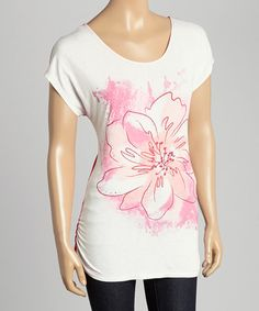Look what I found on #zulily! Pink Floral Floral Scoop Neck Top #zulilyfinds