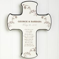 Create lasting Wedding memories with the Our Marriage Blessing Personalized Cross. Find the best personalized wedding gifts at PersonalizationMall.com