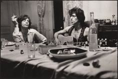 The Stones on tour in the Seventies. Photo by Annie Leibovitz.