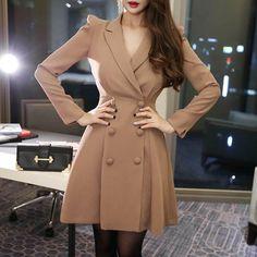 Blazers For Women, Jackets For Women, Clothes For Women, Elegant Dresses, Casual Dresses, Tuxedo Dress, Blazer Dress, Long Jackets, Suit Fashion