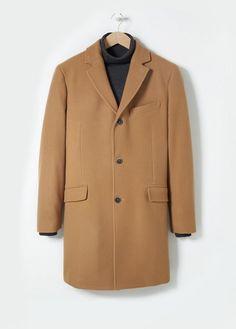 Mango H.E. Wool-blend camel overcoat