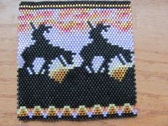 Beautiful Hand Beaded End of Trail Bic lighter cover by Native Beading Patterns, Pony Bead Patterns, Beadwork Designs, Native Beadwork, Peyote Patterns, Beading Projects, Beading Tutorials, Lighter Case, Bic Lighter