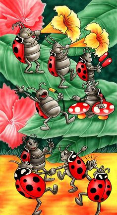 Ladybugs by *Real-Warner on deviantART