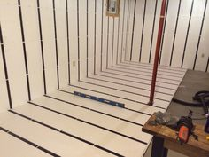Floor-to-Ceiling Insulation in a Brick Wall Basement / InSoFast Continuous Insulation Basement Layout, Basement Plans, Basement Renovations, Basement Ideas, Dry Basement, Camper Remodeling, Walkout Basement, Basement Apartment, Basement Finishing