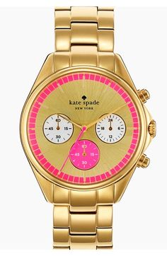 kate spade new york 'seaport' chronograph bracelet watch, 38mm available at #Nordstrom