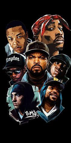 Tupac Wallpaper, Rapper Wallpaper Iphone, Rap Wallpaper, Nike Wallpaper, Eminem Wallpapers, Dope Wallpapers, Arte Do Hip Hop, Hip Hop Art, Dope Cartoons