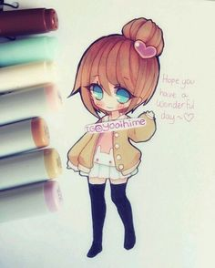 grafika anime girl, brown hair, and draw