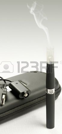 Electronic cigarette, detail and components. E-cigarette business Stock Photo - 19971758