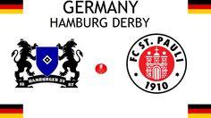 1924, Germany (1st HAMBURG DERBY), Hamburger SV < > FC St. Pauli #HamburgerSV #FCStPauli #Germany (L8392) Hamburger Sv, Fc St Pauli, Derby, Sports Logos, Football Match, Logo Design