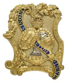 (The King's Own Borderers) Victorian Officer's shoulder belt plate circa 18 Army Badges, Military Issue, Military Uniforms, Scottish Highlands, Vertical Stripes, British Army, Military History, Belt Buckles, Victorian