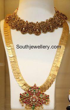 Lord Venkatesha Necklace and Lakshmi Kasu Haram photo