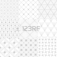 seamless white retro pattern  Stock Vector