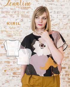 Buy the Kiril Top sewing pattern from Lenaline Patterns. Give your wardrobe a refresh with this flattering top. Couture, Print Patterns, Sewing Patterns, Easy Model, Sewing Blogs, Dressmaking, Floral Tops, T Shirts For Women, Celebrities
